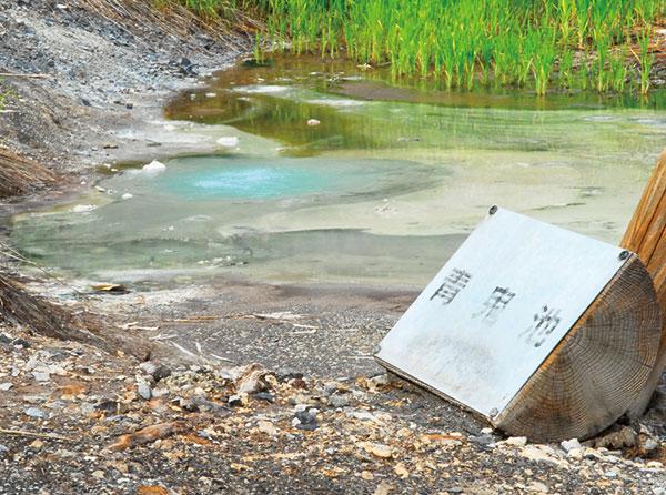 チセヌプリ登山口へと続く探勝路を行くと、青鬼池や鶴の湯などのちいさな温泉が所々にあり、直に手でさわることができます。めっちゃ、熱いお湯もあるので気を付けてください。