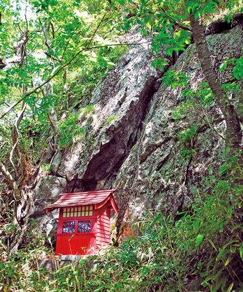 蓬莱山の岩